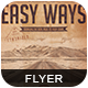 Easy Ways Flyer/Poster