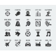 Video Game Genres Vector Icons Set