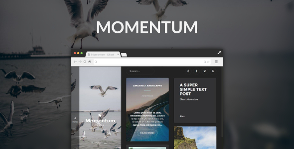 Momentum – Ghost Blog with Masonry Layout