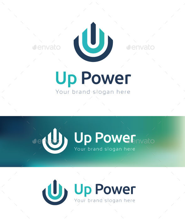 Up PowerLogo Template - Letters Logo Templates