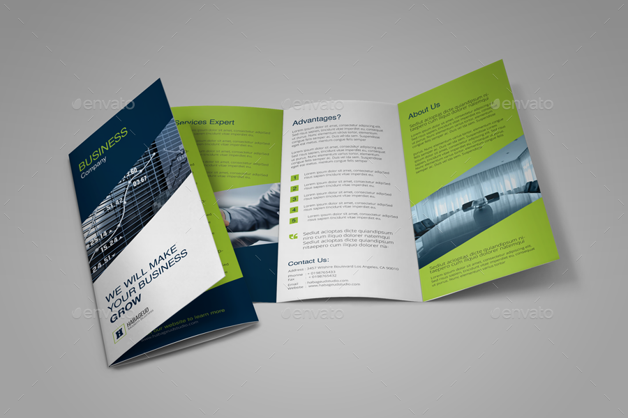 trifold business brochure by habageud graphicriver