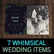 7 Whimsical Wedding Items Pack III - GraphicRiver Item for Sale