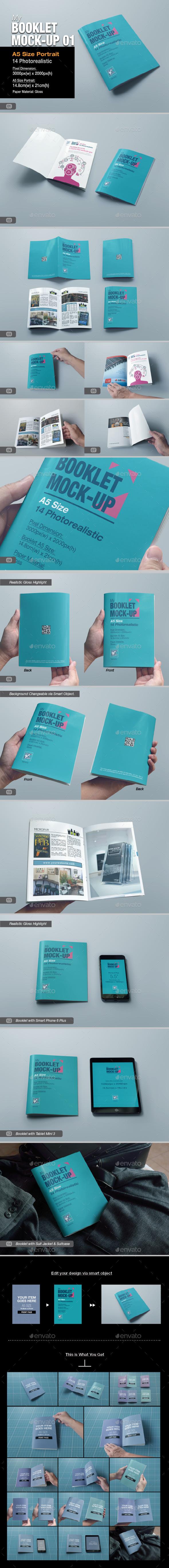 myBooklet Mock-up 01 - Brochures Print