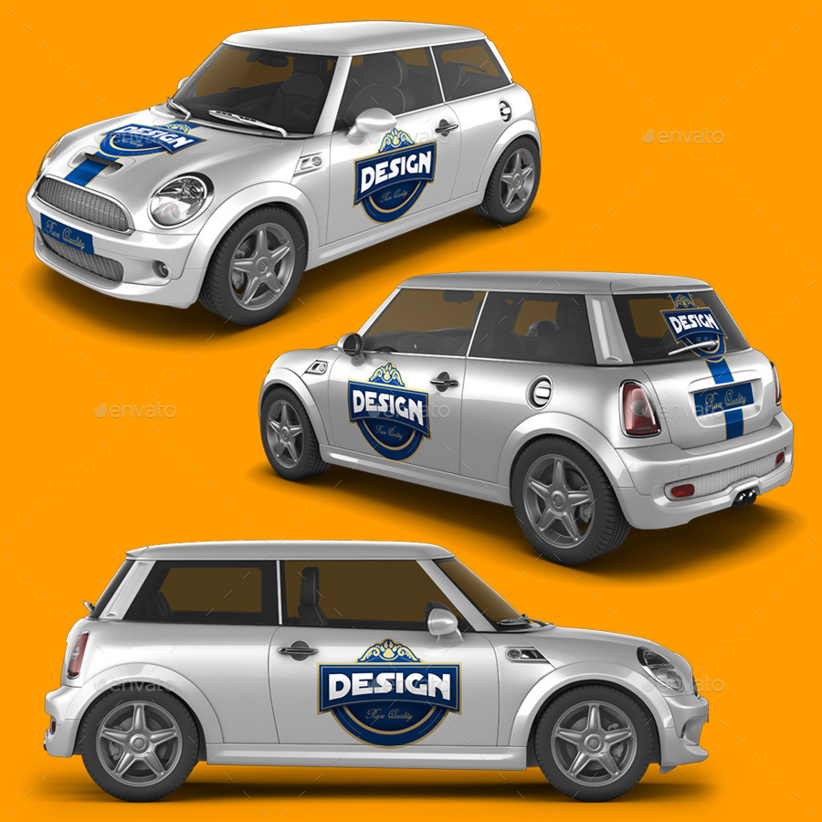 Mini Car Mock-Up By Logic_Design