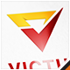 Victus Letter V Check Logo