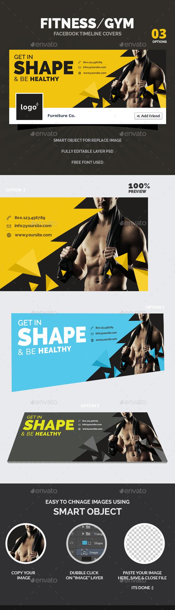 Fitness / Gym  Facebook Timeline Covers - Facebook Timeline Covers Social Media