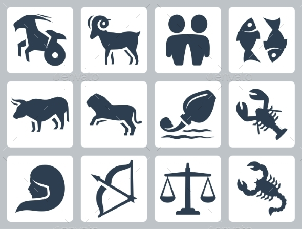 Zodiac Icons From Graphicriver