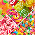 Collage of candy and sweets - PhotoDune Item for Sale