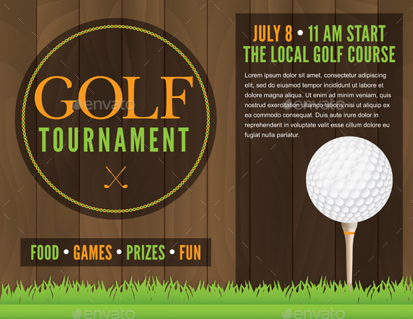 Golf Tournament Flyer Illustration By Enterlinedesign  Graphicriver