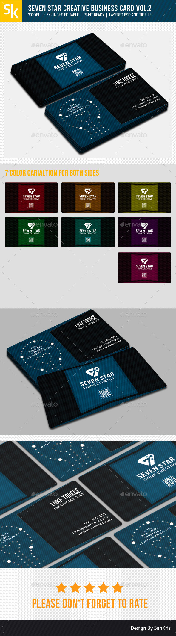 Seven Star Creative Business Card Vol.2 by Creative-Ocean | GraphicRiver