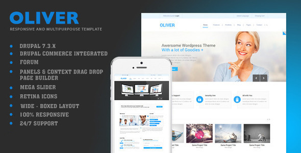 Image of Oliver - Multipurpose Drupal Theme