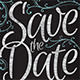 Save The Date Postcard - Chalkboard / Vintage - GraphicRiver Item for Sale