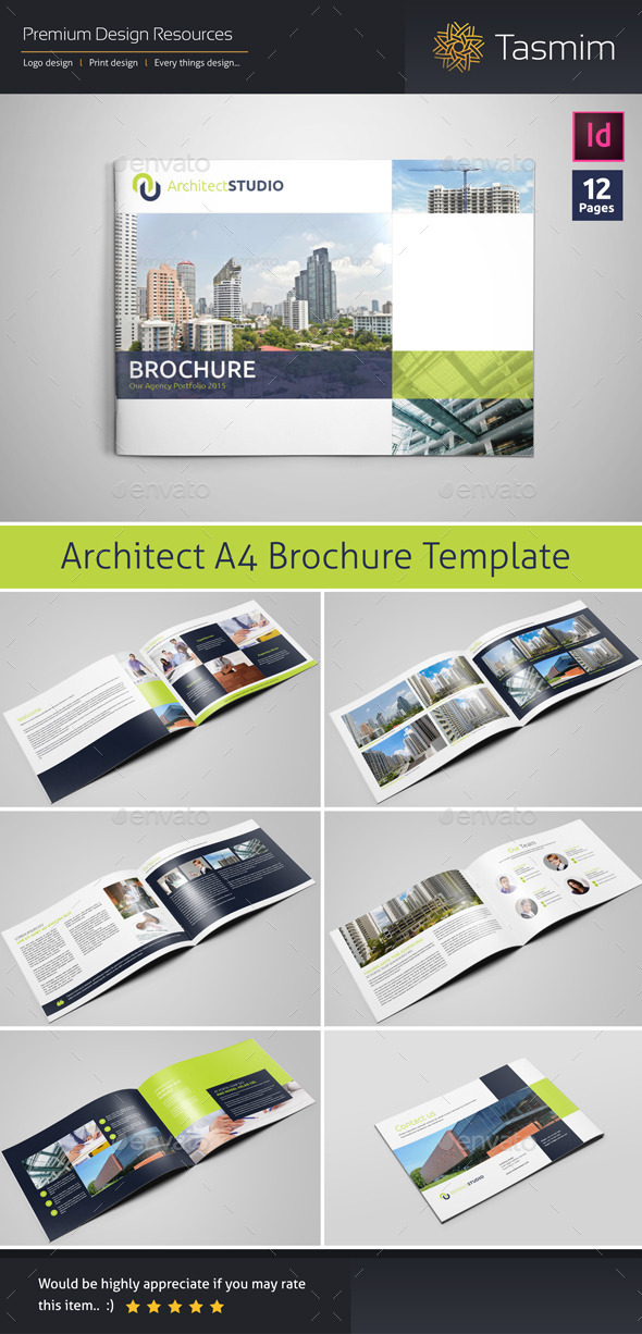 Architect Studio Brochure Template By Tasmim  Graphicriver