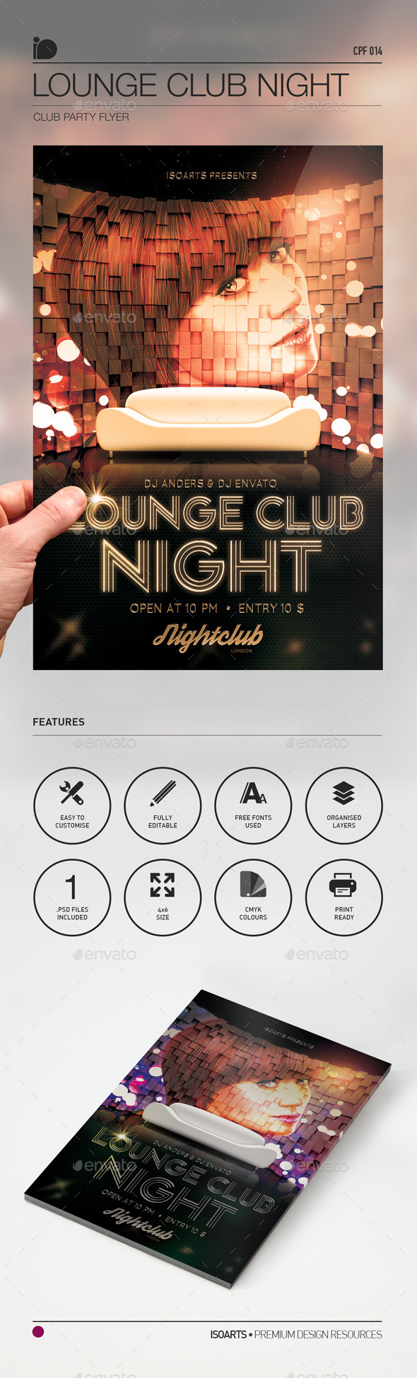 Club Party Flyer • Lounge Club Night - Clubs & Parties Events