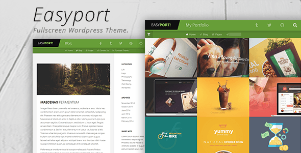 Easyport – Fullscreen Portfolio Theme