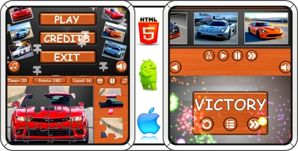 Supercars: Puzzle - 100% Complete Game! + AdMob (Capx) - CodeCanyon Item for Sale