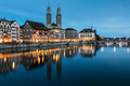 Zurich cityscape - nightshot - PhotoDune Item for Sale