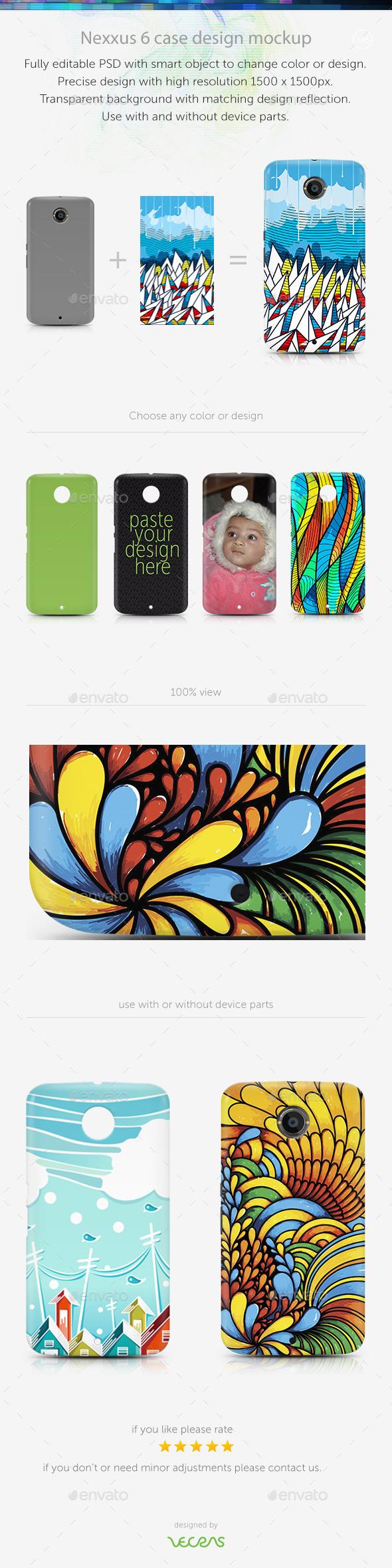Nexxus 6 Case Design Mockup
