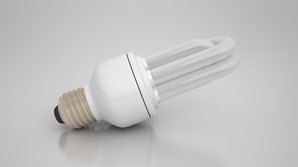 Energy Saver Tubular Light Bulb - 3DOcean Item for Sale