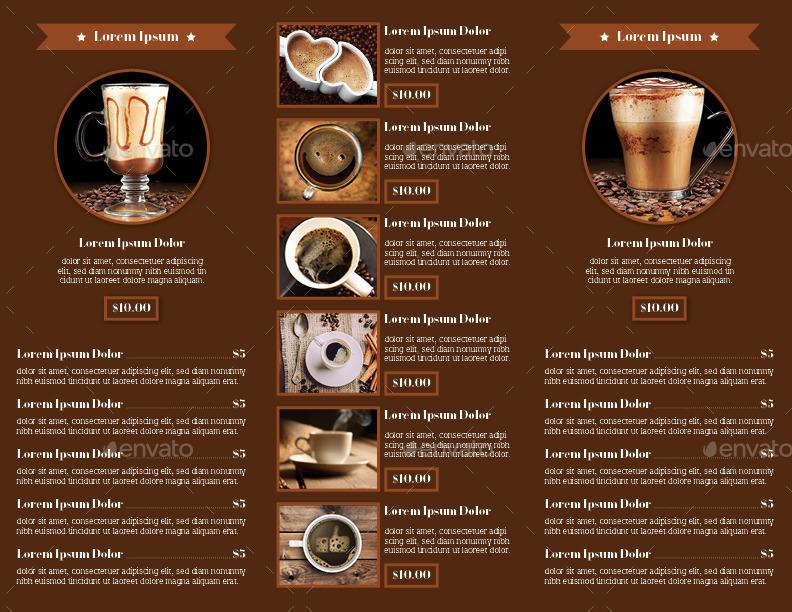 trifold coffee menu by avindaputri graphicriver