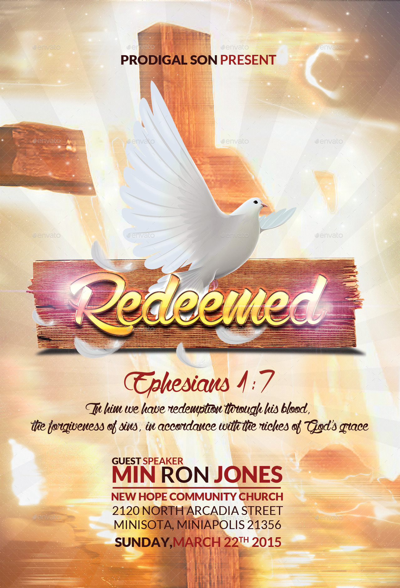 Redeemed Church Flyer by BlueFlameCreations | GraphicRiver