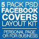 Five Pack Facebook Covers Layout Kit v1.0 - GraphicRiver Item for Sale