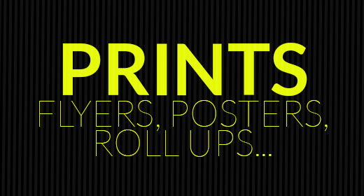 Flyers, Roll Ups, Posters, Cards, Brochures