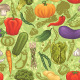 Vegetable Seamless Pattern - GraphicRiver Item for Sale