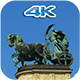 Skyscape Behind The Statue - VideoHive Item for Sale