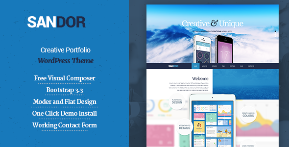SANDOR Creative Portfolio WordPress Theme - Business Corporate