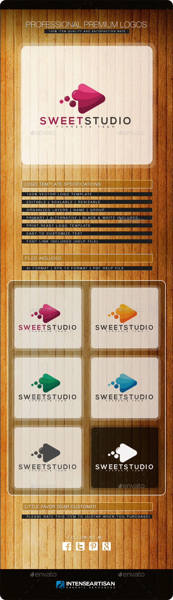 Sweet Studio Logo Template - Objects Logo Templates