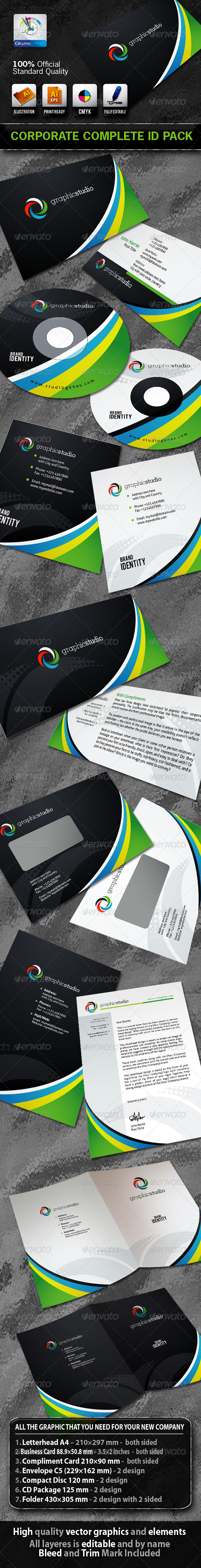 GraphicStudio Business Corporate ID Pack + Logo - Stationery Print Templates