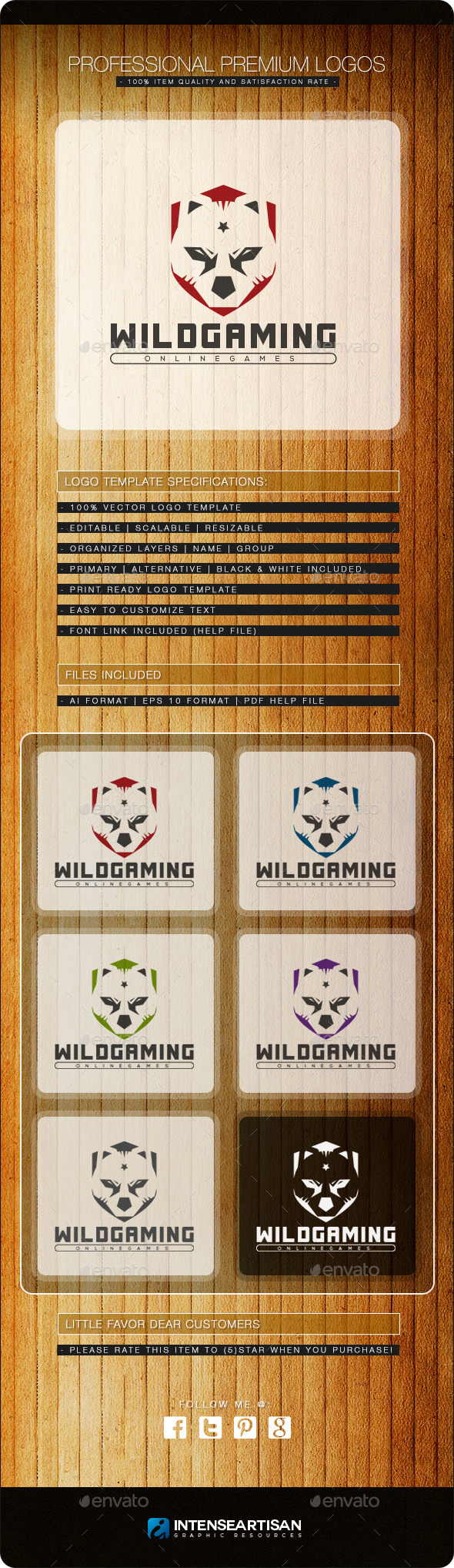 Wild Gaming Logo Template - Animals Logo Templates