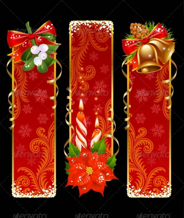 Christmas and New Year vertical banners - New Year Seasons/Holidays