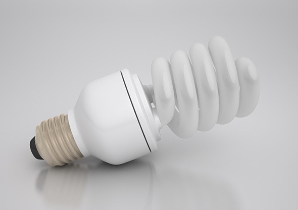 Energy Saver Spiral Light Bulb - 3DOcean Item for Sale