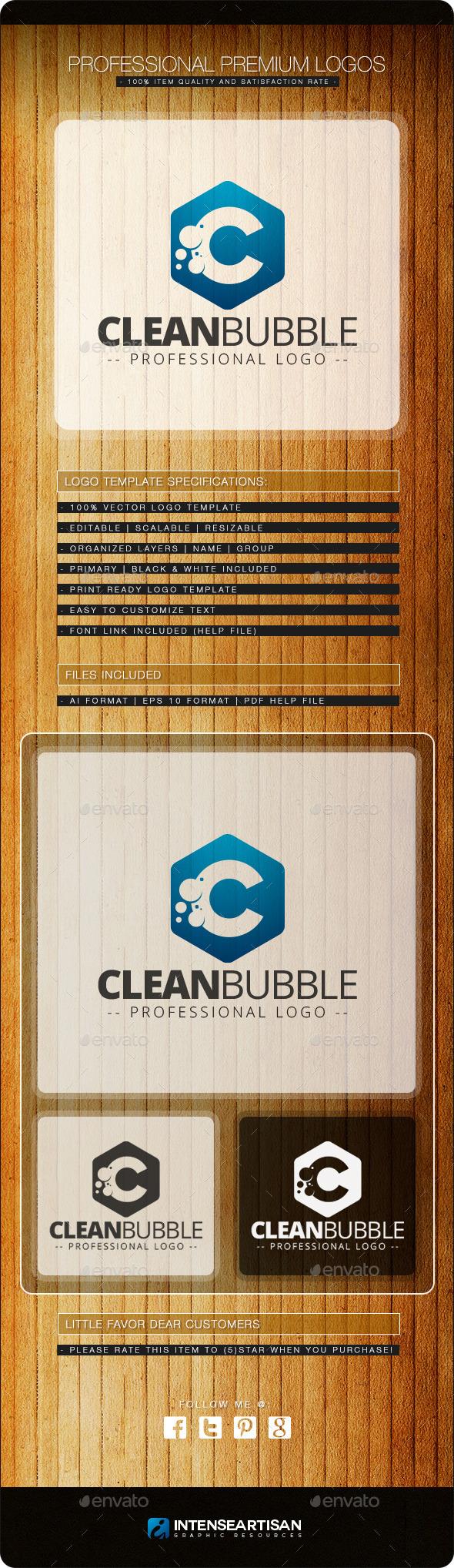 Clean Bubble Logo Template - Letters Logo Templates
