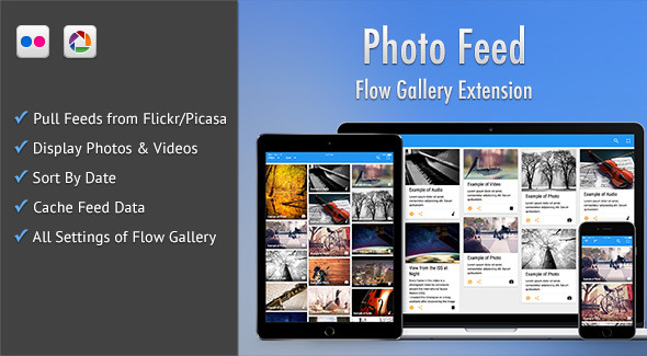 Photo Feed - Flow Gallery Exension - CodeCanyon Item for Sale