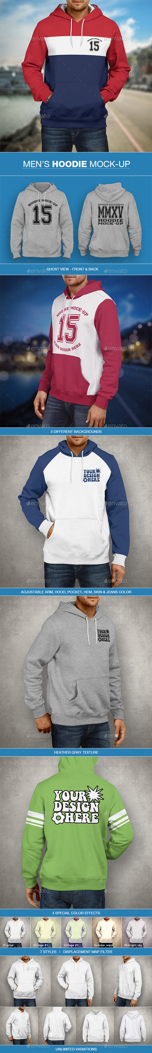 Hoodie Mockup | Men's Edition - Miscellaneous Apparel