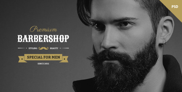 Barbershop - One Page Multipurpose Barbers Theme - PSD Templates
