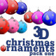 3D Christmas ornaments pack one - VideoHive Item for Sale