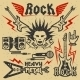 Rock Music and Heavy Metal Graphics