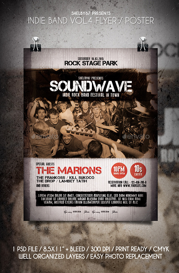 Indie Band Flyer / Poster Vol.4 - Events Flyers
