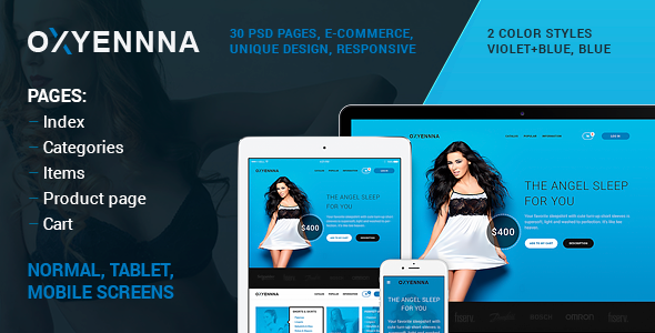 OXUENNNA – PSD e-commerce template