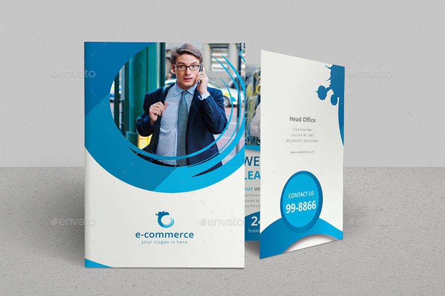 E Commerce Business Bi Fold Brochure By Dotnpix Graphicriver