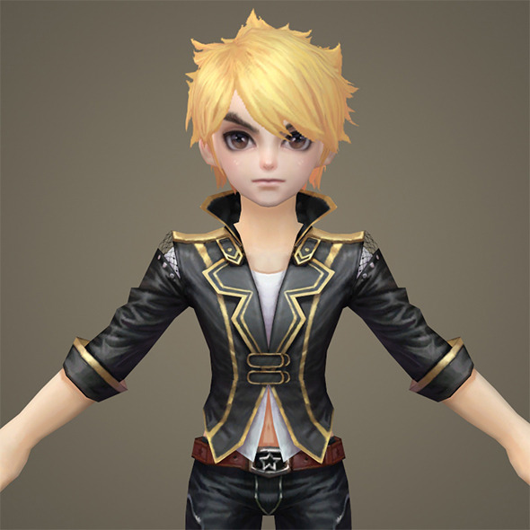 Toon character Kenshi - 3DOcean Item for Sale