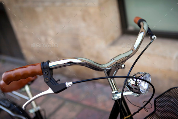 Bicycle handlebar - Stock Photo - Images