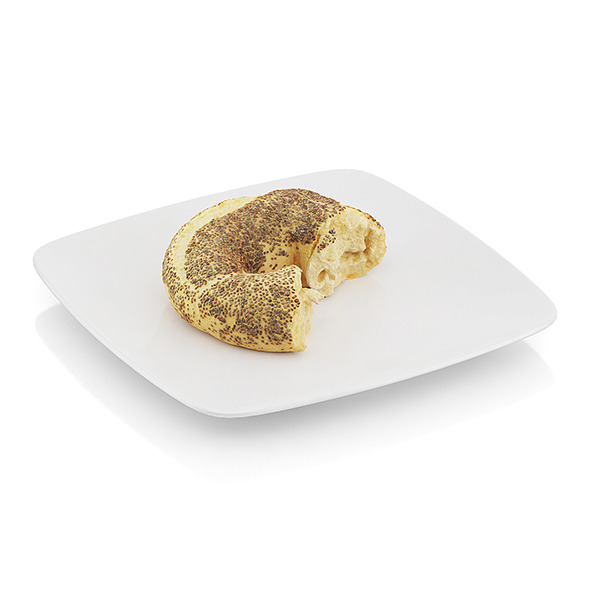 Bitten bagel with poppy seeds - 3DOcean Item for Sale