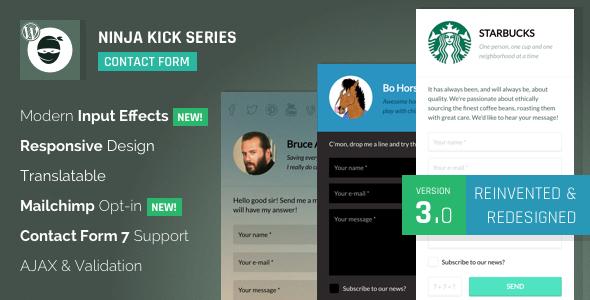 Ninja Kick: WordPress Contact Form Plugin - CodeCanyon Item for Sale