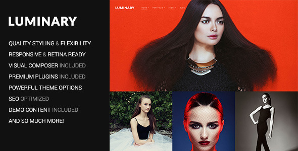 Luminary – Portfolio / Photography WordPress Theme