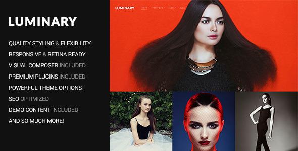 Luminary - Portfolio / Photography WordPress Theme